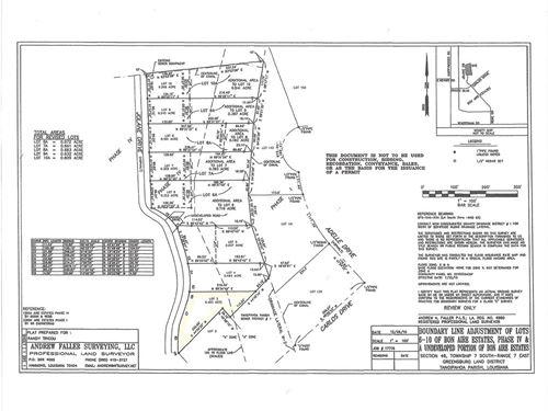 Bon Aire Residential Lot Minutes : Ponchatoula : Tangipahoa Parish : Louisiana