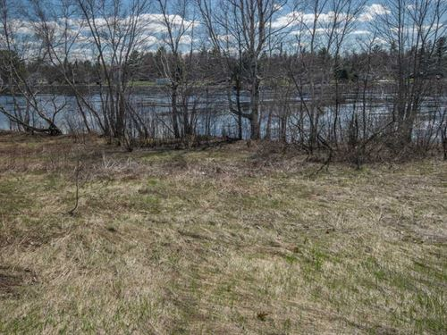 Maine Riverfront Lot in Howland : Howland : Penobscot County : Maine