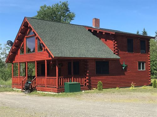 Coastal Log Home, Lubec, Maine : Lubec : Washington County : Maine