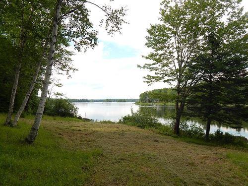 Maine Lakefront Cabin Molunkus Twp : Molunkus : Aroostook County : Maine
