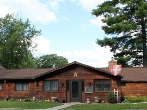 Log Home Northern MI Thunder Bay : Atlanta : Montmorency County : Michigan