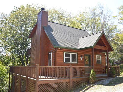 Nice Log Cabin Gated Community : Piney Creek : Alleghany County : North Carolina