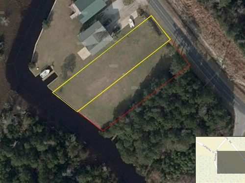 Waterfront Lot Sneads Ferry, NC : Sneads Ferry : Onslow County : North Carolina