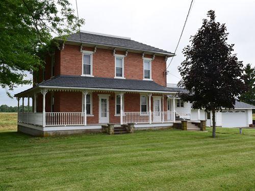 Historical Brick Home, Burgoon, OH : Burgoon : Wyandot County : Ohio