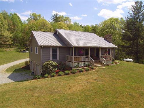 Blue Ridge Mountain Mini-Farm Long : Troutdale : Grayson County : Virginia