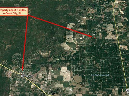 Over Half-Acre Lot Near Fl Coast : Old Town : Dixie County : Florida