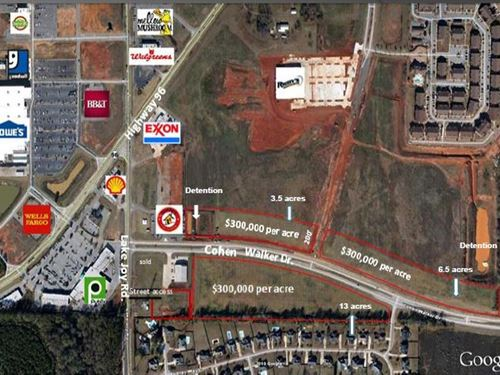 Prime Commercial Land Available : Warner Robins : Houston County : Georgia