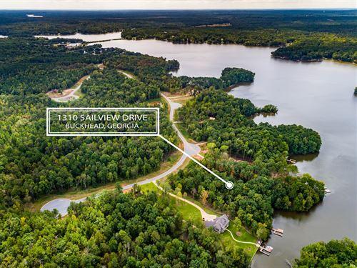 Lake Oconee Lakefront Lot-Sailview : Buckhead : Morgan County : Georgia