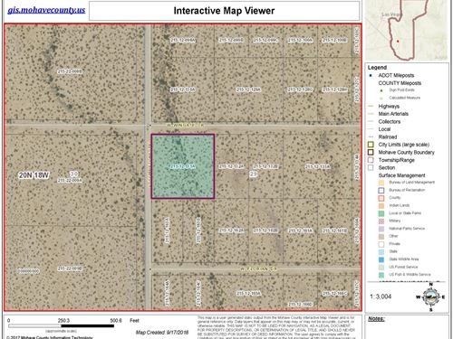 Nice Flat Land Paradise Acres, 2.07 : Golden Valley : Mohave County : Arizona