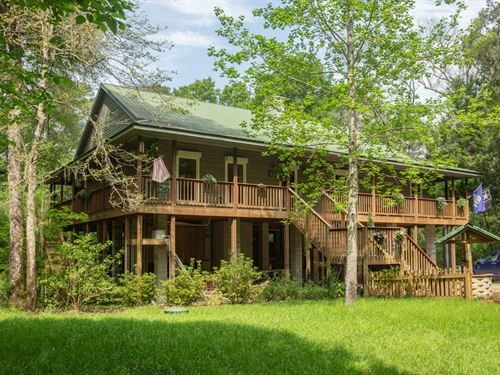 Custom Built Stilt River Home : Live Oak : Suwannee County : Florida