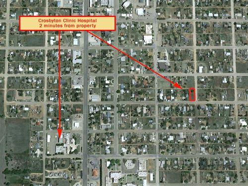 Corner Lot In Dynamic Community : Crosbytown : Crosby County : Texas
