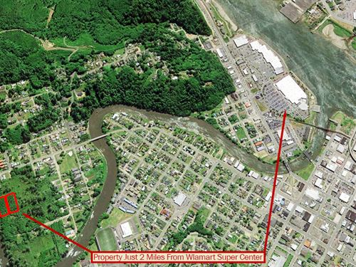 Riverfront Lot On Residential Acre : Aberdeen : Grays Harbor County : Washington