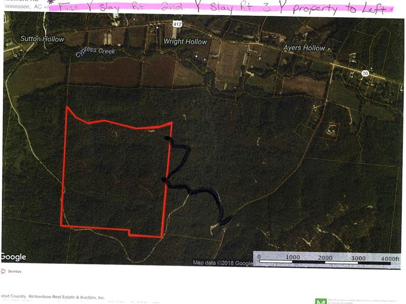 Perry County Tennessee Map.Reduced 175 Ac Hunting Land Perry Land For Sale Linden Perry