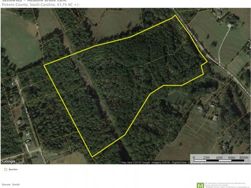 43.74 Acres Great Multiple Use Pro : Pickens : South Carolina