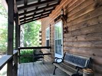 Missouri Ozarks Log Cabin Mark : West Plains : Douglas County : Missouri