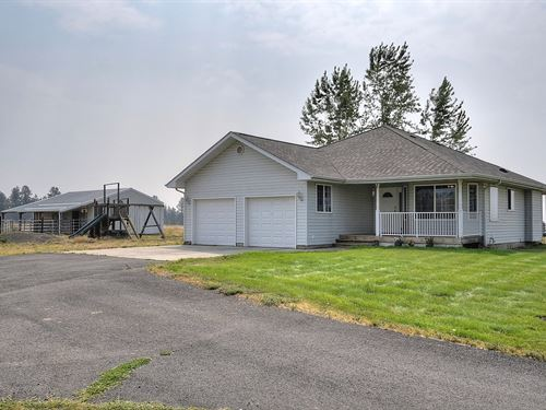 Equine Property Nearly 10 Acres : Spokane : Washington