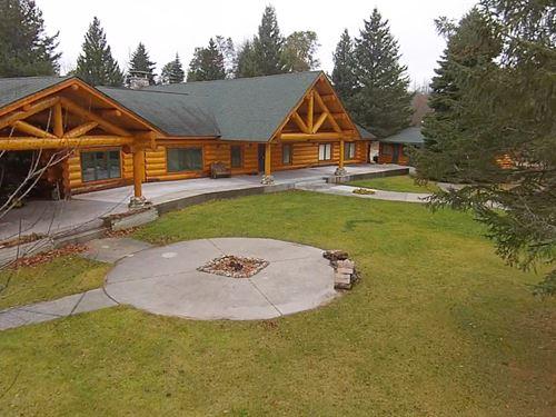 Hunting Ranch Log Home Airstrip : Curran : Alcona County : Michigan