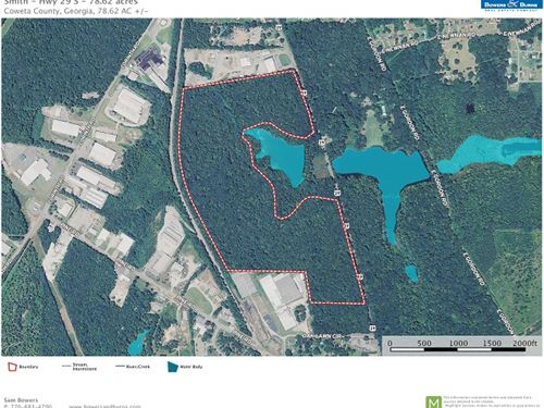 78.62 Ac On Hwy 29 South Commercial : Newnan : Coweta County : Georgia
