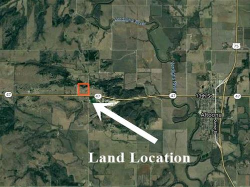 32 Acre Building Site With Hunting : Altoona : Wilson County : Kansas
