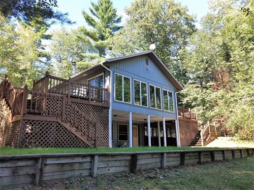 Waterfront Home 20 Acres Thunder : Atlanta : Montmorency County : Michigan