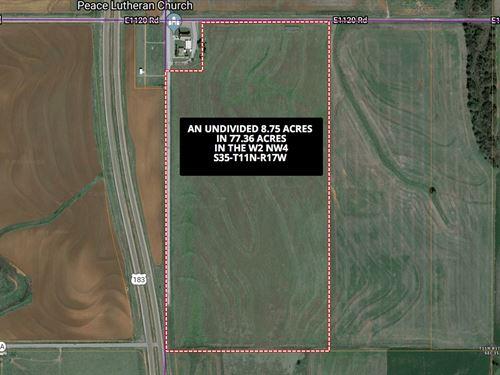 Undivided Surface Interest Acreage : Bessie : Washita County : Oklahoma