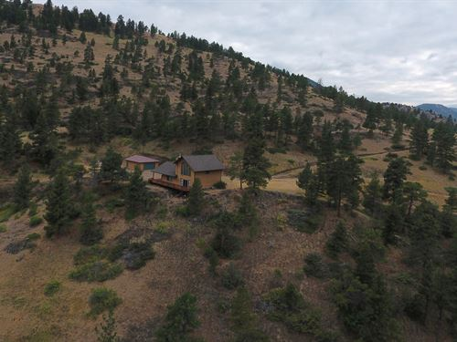 Montana Horse Ranch, 2 Barns/House : Wolf Creek : Lewis And Clark County : Montana