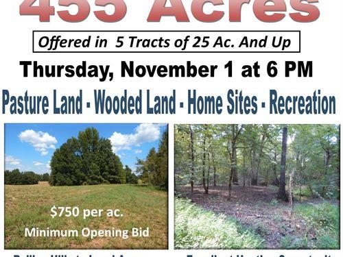 Auction, Hunting Land Pasture Land : Senatobia : Tate County : Mississippi