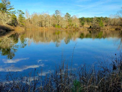 Lake, Mature Hardwoods, And Pasture : Locust Grove : Henry County : Georgia
