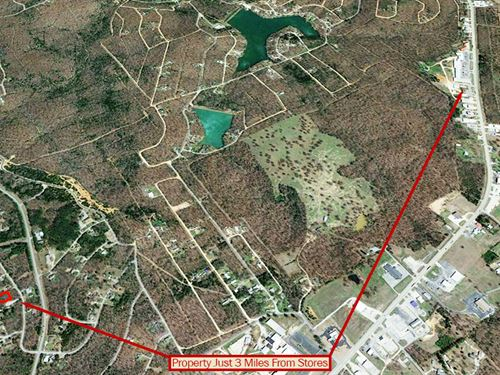 Spacious Land Near Three Lakes : Cherokee Village : Sharp County : Arkansas