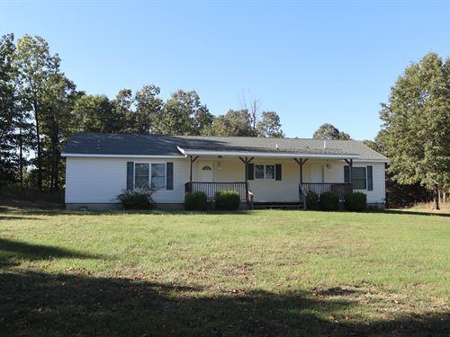 Country Home & Shop Acreage Creek : Viola : Fulton County : Arkansas