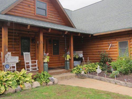 Log Home in Waupaca County WI : Ogdensburg : Waupaca County : Wisconsin