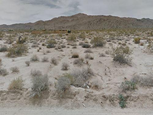 1.25 Acres In San Bernardino County : Twentynine Palms : San Bernardino County : California