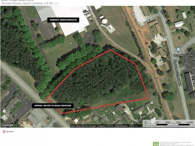 Commercial Site Blue Ridge Blvd Sen Land For Sale Seneca
