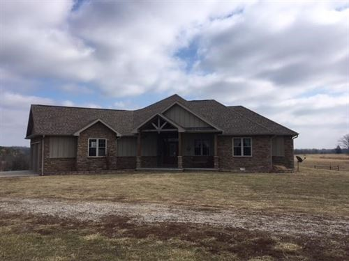 Custom Home Farm With 40 Acres : Mountain Grove : Douglas County : Missouri