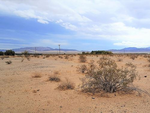 Prime 5 Ac On Paved Road With Power : Wonder Valley : San Bernardino County : California