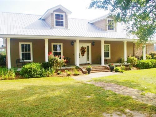 3 Bed, 2 Bath Home 76.6 Acres Pastu : Osyka : Pike County : Mississippi
