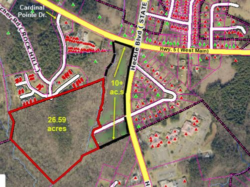 37 Acre Mixed Use Site : Rock Hill : York County : South Carolina