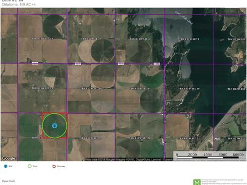 Irrigated Land Caddo County : Fort Cobb : Caddo County : Oklahoma
