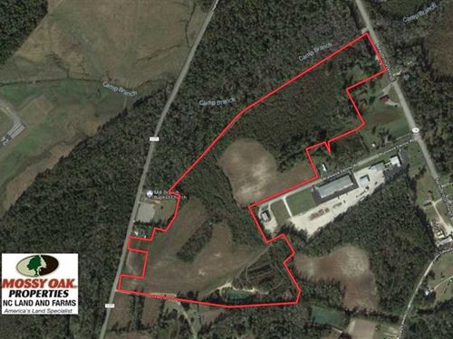 55.85 Acres of Farm, Hunting, And : Whiteville : Columbus County : North Carolina