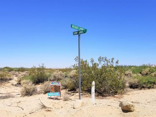 3.22 Acres-5 Minutes From Usmc Base : Twentynine Palms : San Bernardino County : California
