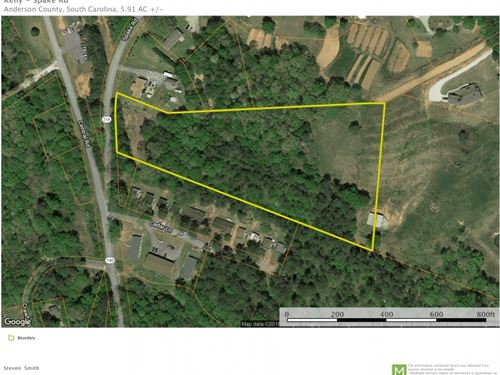 5.91 Acres Located In Pendleton, SC : Pendleton : Anderson County : South Carolina