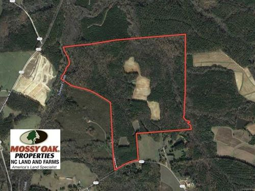 187 Acres of Timber And Farm Land : Norlina : Warren County : North Carolina