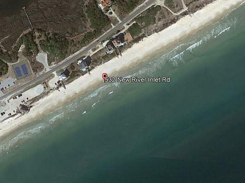 Land in North Topsail Beach, NC : North Topsail Beach : Onslow County : North Carolina