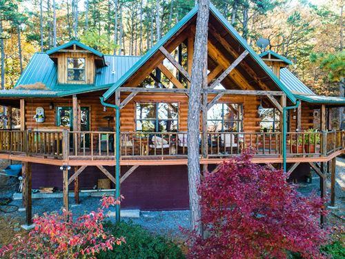 Log Cabin Southeastern Oklahoma : Clayton : Pushmataha County : Oklahoma