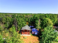 Log Home On Muskegon River : Evart : Osceola County : Michigan