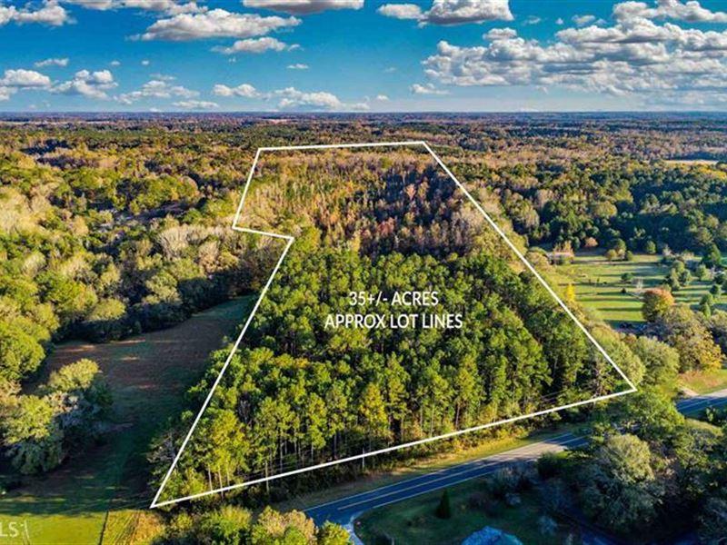 35 Wooded Acres Bordered By Creek : Covington : Newton County : Georgia