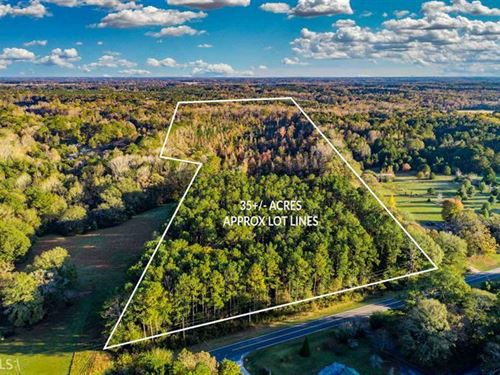 35 Wooded Acres Bordered By Creek : Covington : Newton County : Georgia