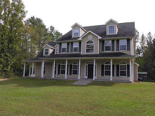 Home & 10 Acres, Additional Land : Keysville : Burke County : Georgia