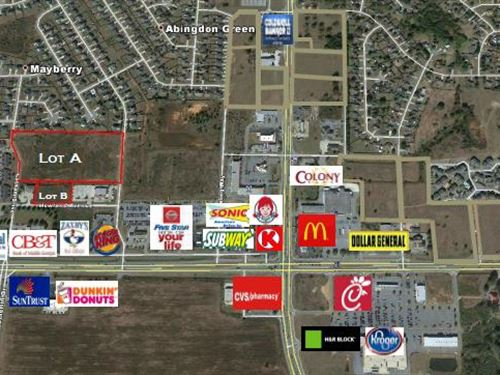 Prime Commercial Lot Available : Warner Robins : Houston County : Georgia