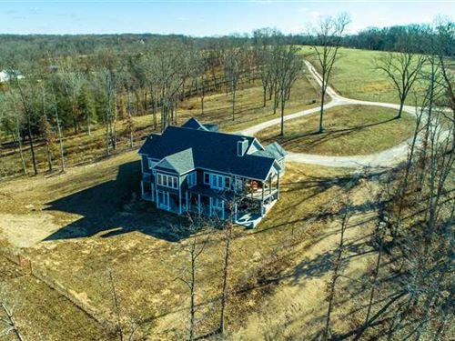 Exquisite New Home on 170 Acres : Eldon : Miller County : Missouri
